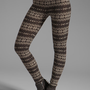 Plush Fair Isle Legging in Black from REVOLVEclothing.com