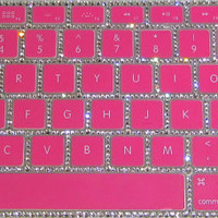 Authentic Swarovski Crystal Rubber Keyboard Cover MORE COLORS AVAILABLE