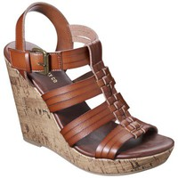 Women's Mossimo Supply Co. Waylon Harachi Cork Wedge Sandal - Cognac