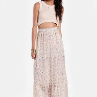 Keep Walking Floral Maxi Skirt - $35.00 : ThreadSence, Women's Indie & Bohemian Clothing, Dresses, & Accessories
