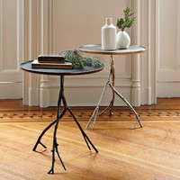 Branch Side Table - Silver