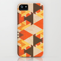 Orange Maze iPhone &amp; iPod Case by VessDSign