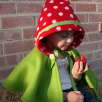 Strawberry Hooded Cape Mushroom Hooded Cape by SavageSeeds on Etsy