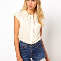 ASOS Blouse With Pleated Collar