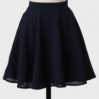 By My Side Skirt In Navy at ShopRuche.com