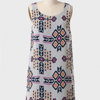 Nevada Roads Printed Shift Dress at ShopRuche.com