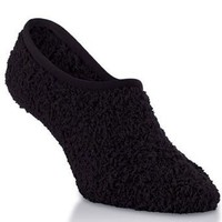 Amazon.com: Marshmallow Soft Women's Microfiber Fuzzy Footie Spa Slipper Socks with Non-skid Grips in Black: Clothing