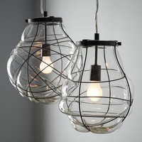 Organic Blown Glass Pendant | west elm