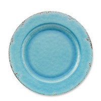 Rustic Melamine Dinner Plates, Set of 4