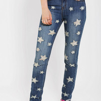 Urban Outfitters - BDG Cigarette High-Rise Jean - Shredded Stars