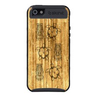 Hawaiian Honu And Tiki Mask iPhone 5 Case from Zazzle.com