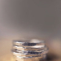 Thin Fine Silver Stacking Rings