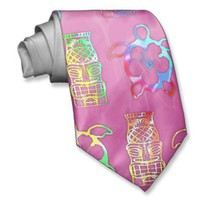 Pink Tie Die Honu And Tiki Mask from Zazzle.com