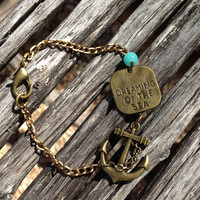 Dreaming of the Sea Anchor Nautical Bracelet