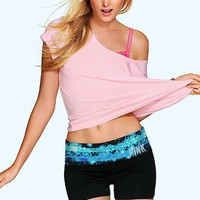 Bling Foldover Yoga Shortie