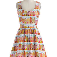 Rainbow Row Dress in Citrus | Mod Retro Vintage Dresses | ModCloth.com