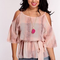 Dusty Pink Multi Printed Top