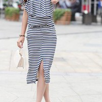 Slim Striped Chiffon dresses from shoplayla