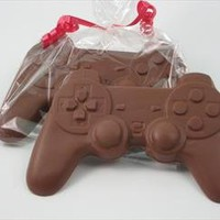 Electronic game player gift of Solid Milk Chocolate Candy Game Controller for Adults & Children