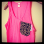 Etsy Transaction -          Neon Pink and Leopard Tank