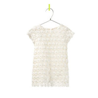 FLORAL CROCHET DRESS - Dresses - Baby girl - Kids - ZARA United States