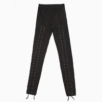 Purple Label - Scarlett Laced Leggings (Black)