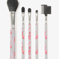 Floral Cosmetic Brush Set