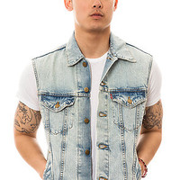 The Levis Vest Trucker in Surf Love