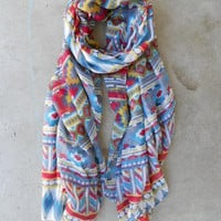 Native Rivers Scarf in Rouge [3960] - $18.00 : Vintage Inspired Clothing & Affordable Summer Frocks, deloom | Modern. Vintage. Crafted.