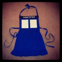 Doctor Who Tardis Apron - Made to Order