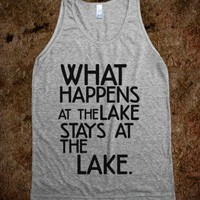 What Happens at The Lake-Unisex Athletic Grey Tank