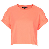 Tall Fluro Roll Back Crop Tee - Hotshop - Clothing - Topshop