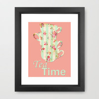 Tea Time Framed Art Print by PopEnterprises