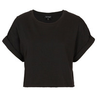 Roll Back Crop Tee - T-Shirts - Jersey Tops - Clothing - Topshop