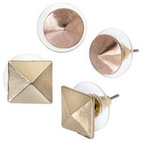 Cära 2 Set Of Studs - Gold/Rosegold