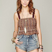 Free People  Peplum Festival Crop at Free People Clothing Boutique