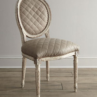 Old Hickory Tannery Limestone Side Chair