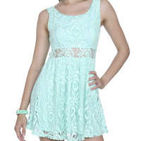 Crochet Illusion Waist Skater Dress | Shop Dresses at Wet Seal