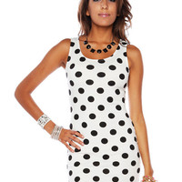 Papaya Clothing Online :: POLKA DOT BODYCON DRESS
