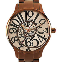 BetseyJohnson.com - BROWN POLISH WATCH BROWN