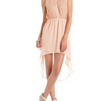 Lace Bust Chiffon Shirt Dress: Charlotte Russe