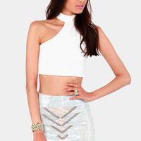 Weekend in Vegas Studded Ivory Mini Skirt