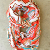 Zig Zag Loop Scarf [3936] - $16.00 : Vintage Inspired Clothing & Affordable Summer Frocks, deloom | Modern. Vintage. Crafted.