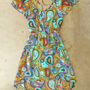 Wandering Paisley Dress [3785] - $42.00 : Vintage Inspired Clothing & Affordable Summer Frocks, deloom | Modern. Vintage. Crafted.