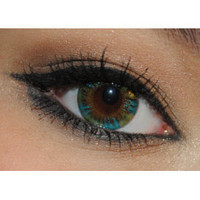 Royal Vision Creamy Peacock Green Circle Lenses Colored Contacts