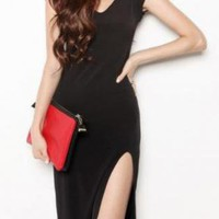 Sexy High Slit Sleeveless Dress