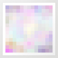 Re-Created Colored Squares No. 40 Art Print by Robert Lee