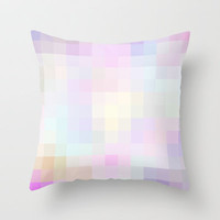 Re-Created Colored Squares No. 40 Throw Pillow by Robert Lee