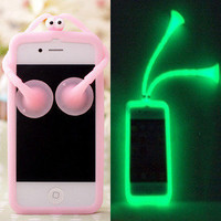Luminous Grasshopper Silicon Case for iPhone5