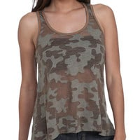 Camo Burnout High-Low Tank | Shop Tops at Wet Seal